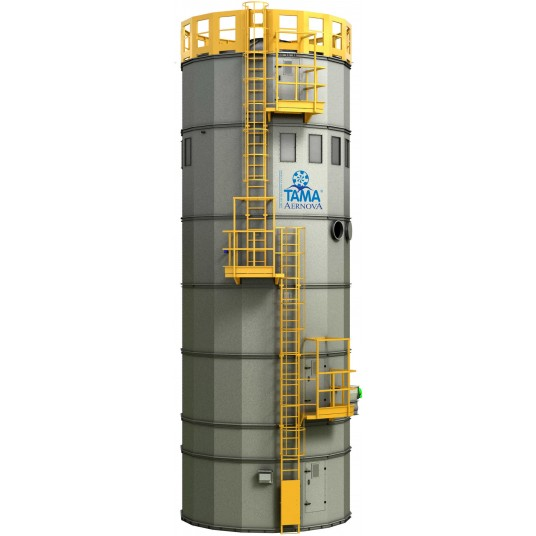 Silo with filtration system