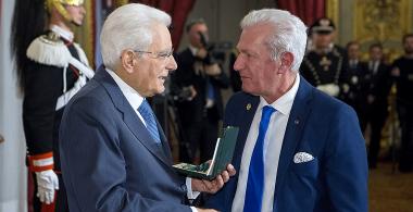 The President of the Italian Republic rewarded Giovanni Coletti